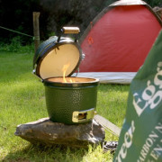 Mini Big Green Egg Grilling